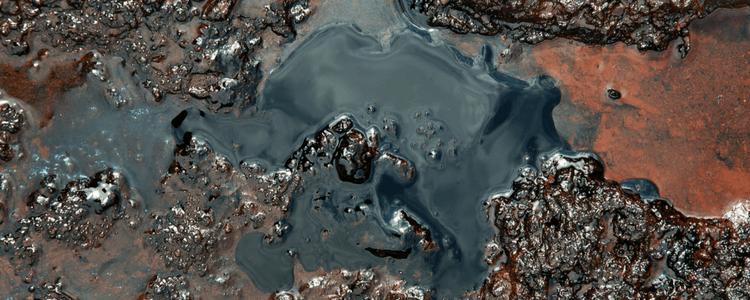 puddle of sludge - sludge collection